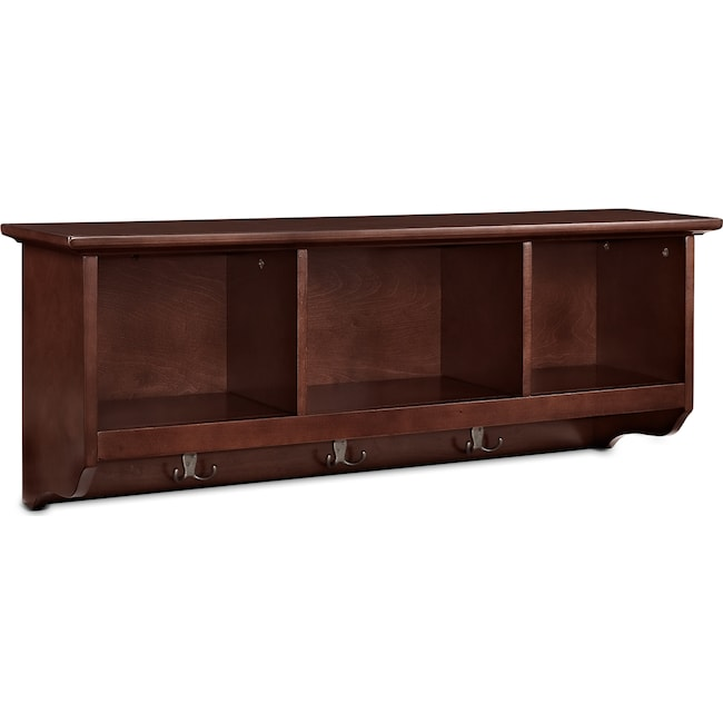 Accent and Occasional Furniture - Levi Mahogany Entryway Storage Shelf