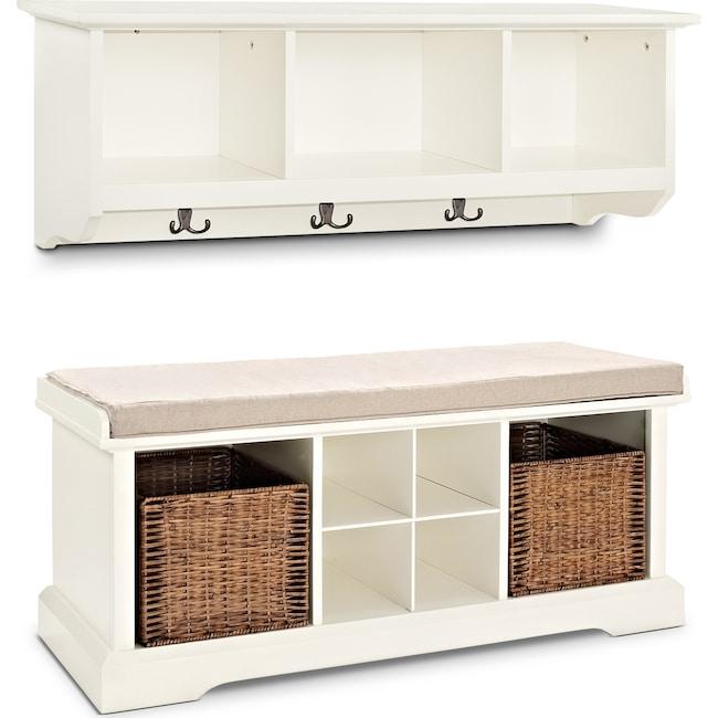 Hall_Entrance Furniture - Levi 2-Piece Entryway Set - White