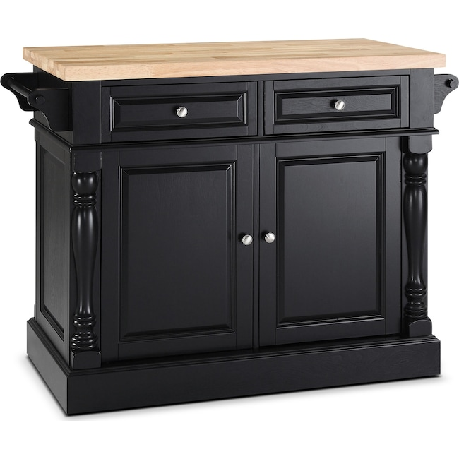 Accent and Occasional Furniture - Warren Kitchen Island - Black