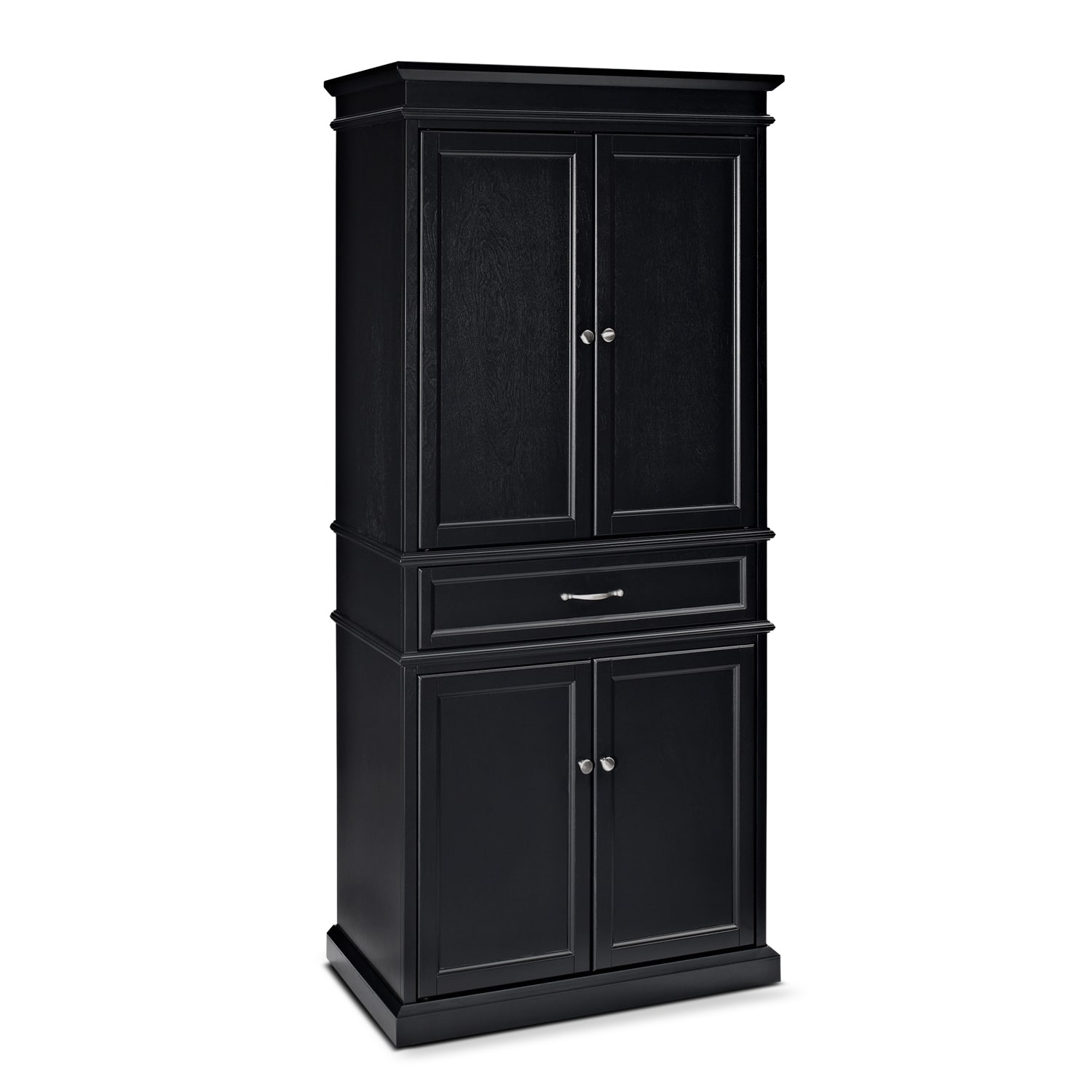 Accent and Occasional Furniture - Midway Black Pantry