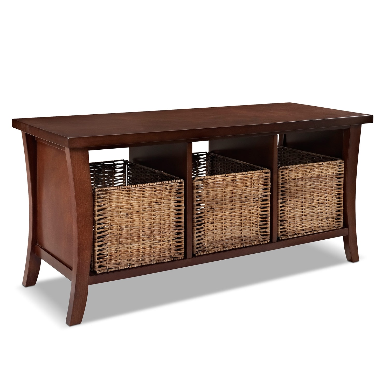 Accent and Occasional Furniture - Mae Mahogany Entryway Storage Bench