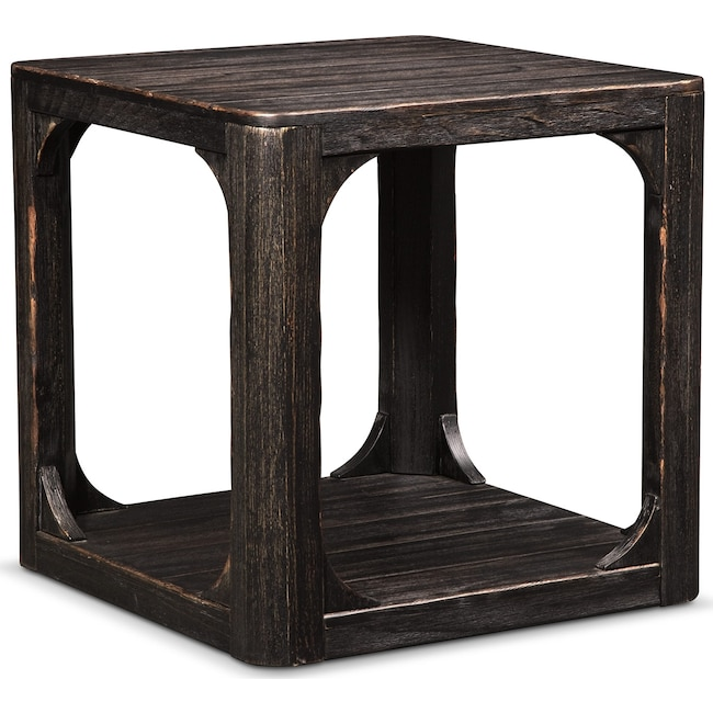 Accent and Occasional Furniture - Prentice Square End Table - Weathered Black