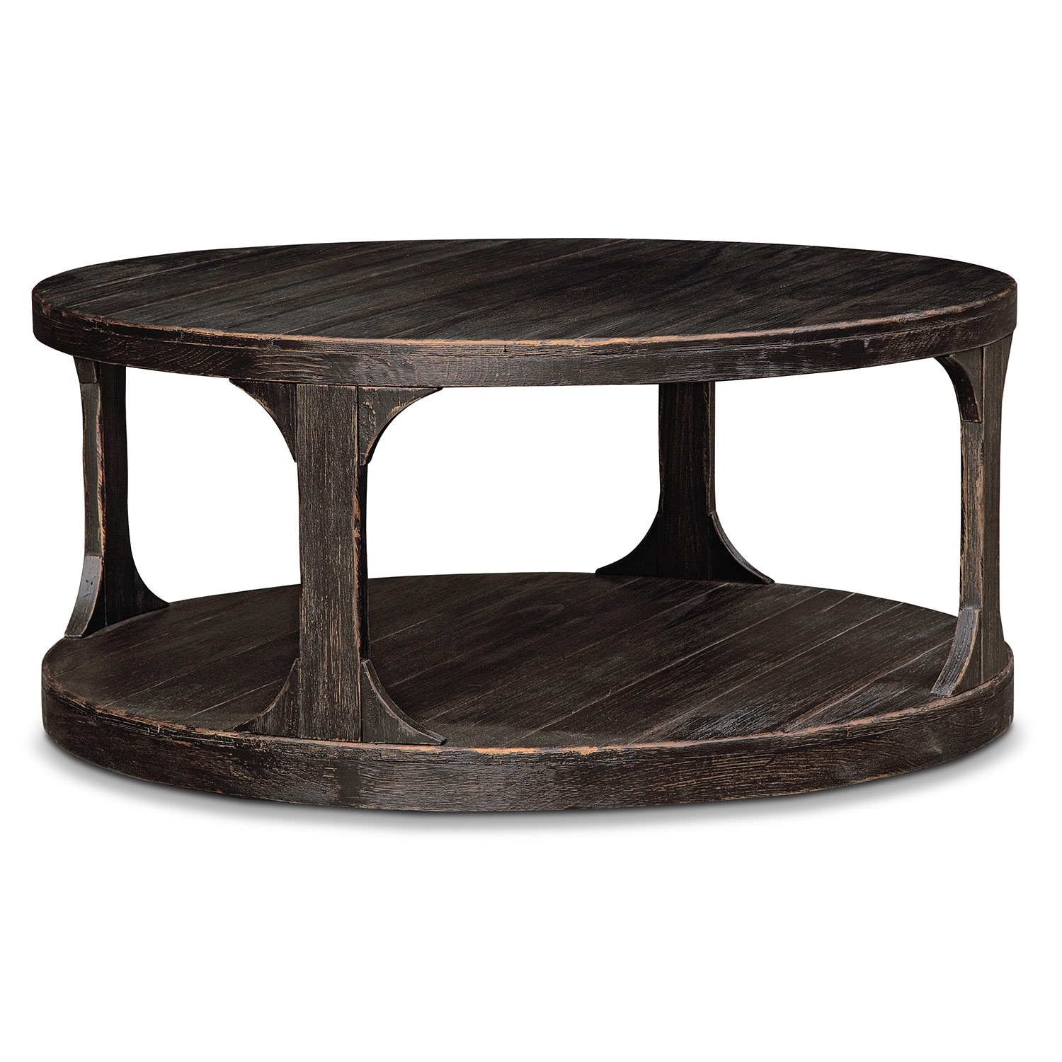 Prentice Cocktail Table Weathered Black American Signature Furniture