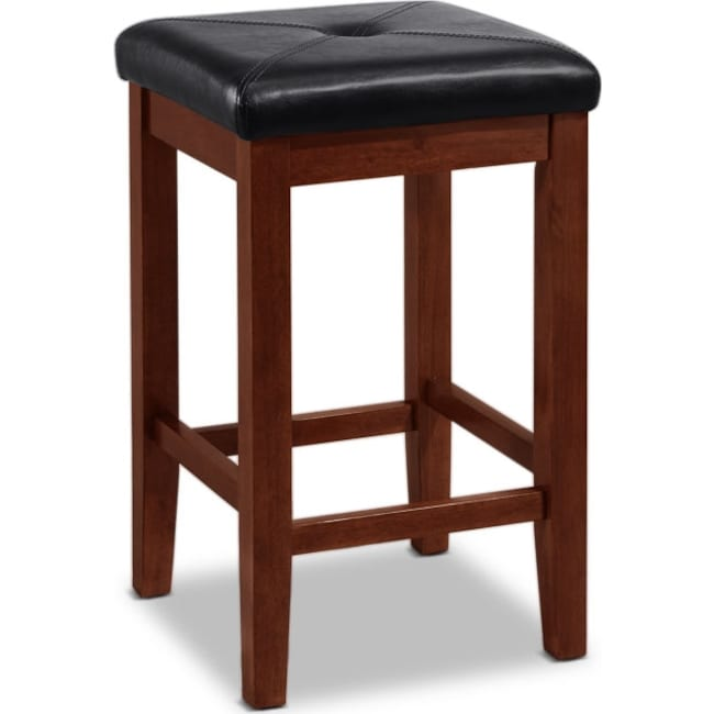 Dining Room Furniture - Marisol 2-Pack Barstools - Mahogany