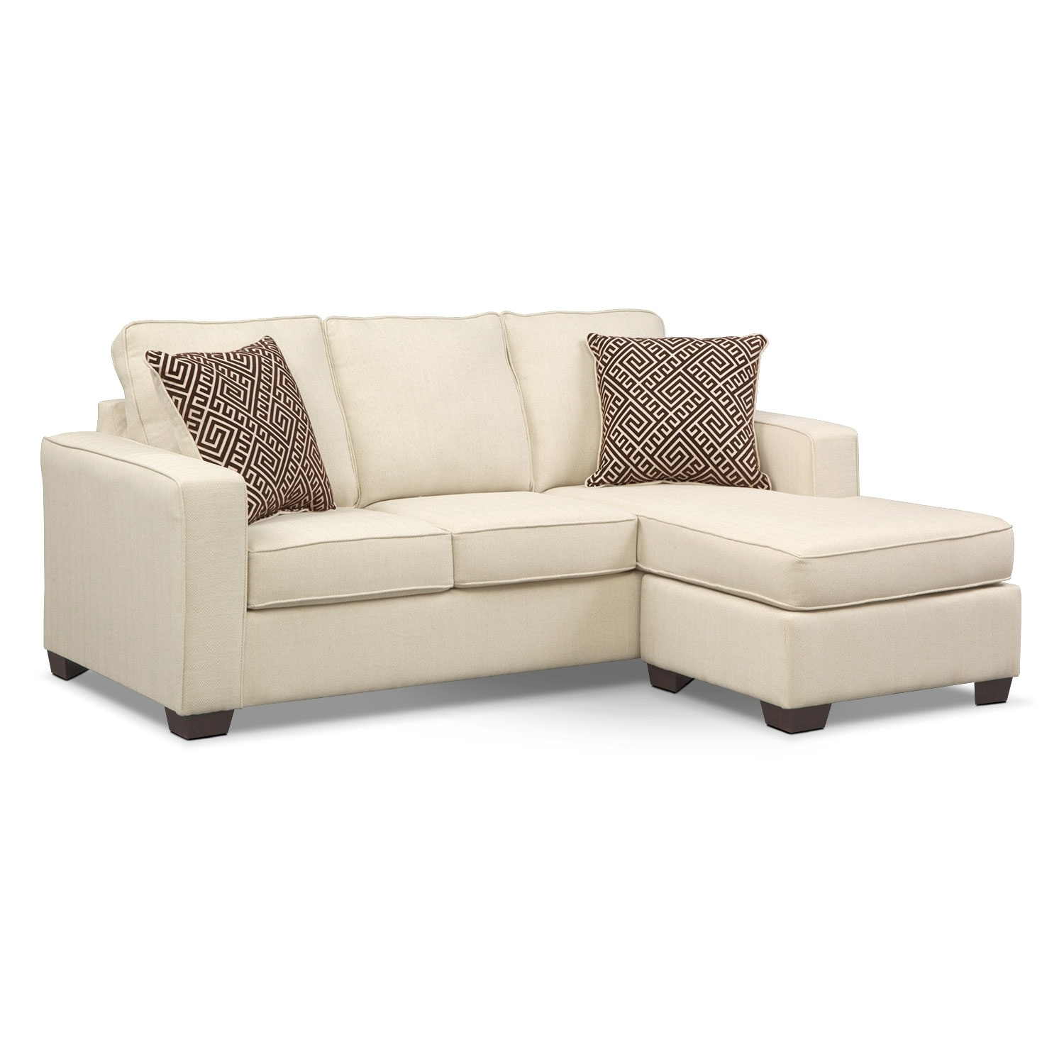 Living Room Furniture - Sterling Innerspring Sleeper Sofa with Chaise - Beige