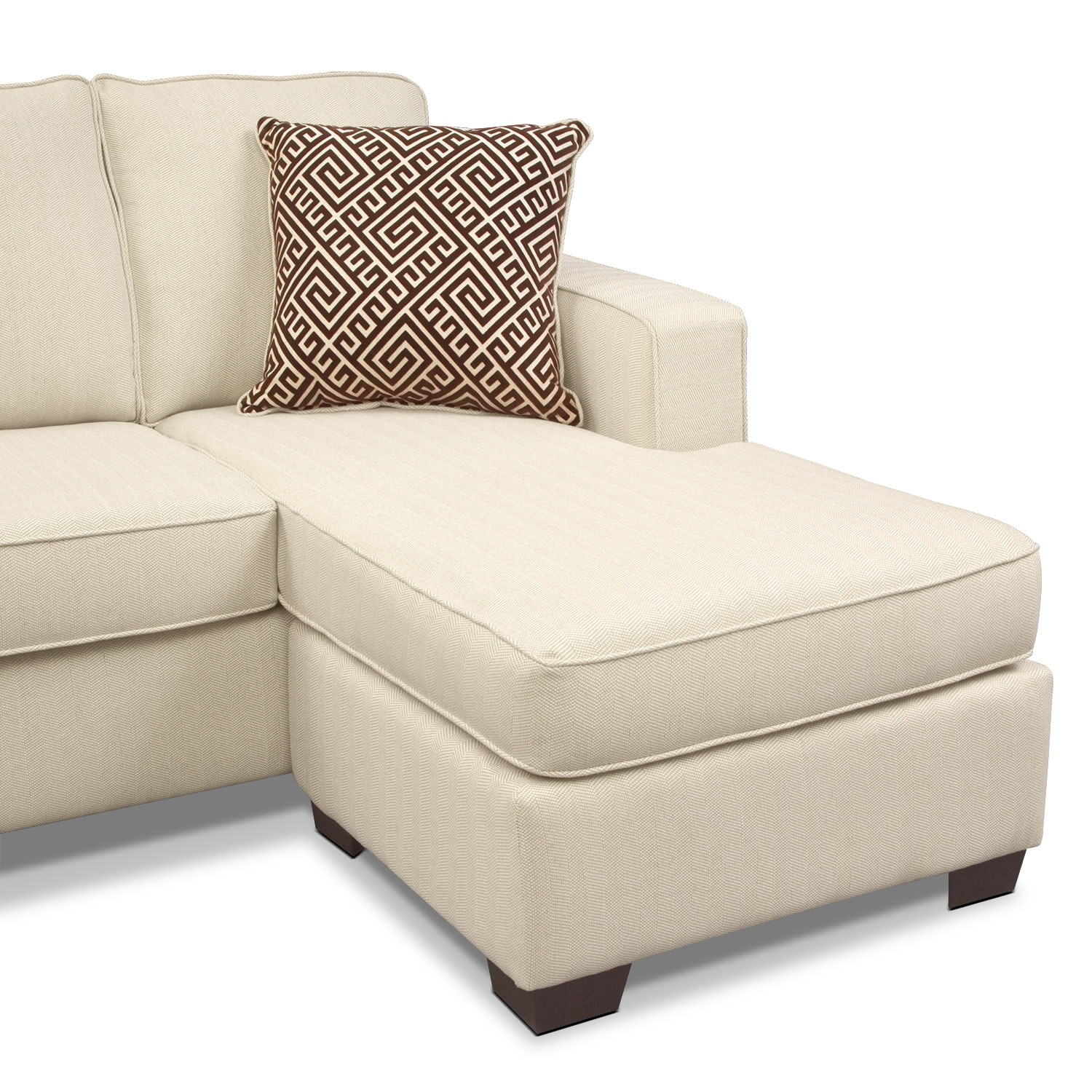 Sterling innerspring sleeper sofa with chaise beige for Beige sofa with chaise