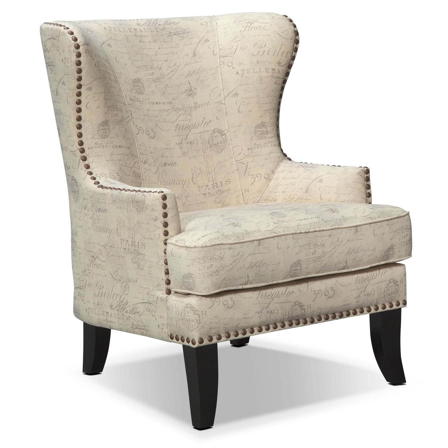Marseille Accent Chair   Cream And Black Part 43