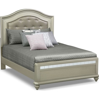 Serena Queen Bed - Platinum