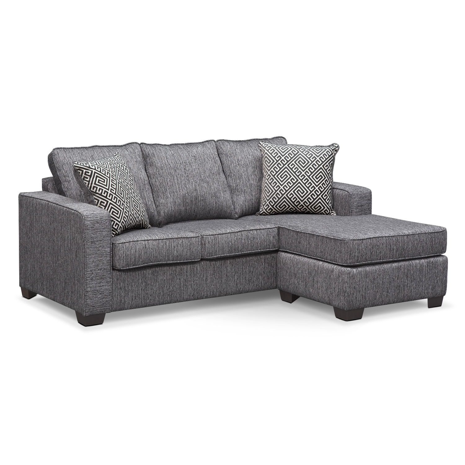 Sterling Innerspring Sleeper Sofa With Chaise - Charcoal By Factory Outlet
