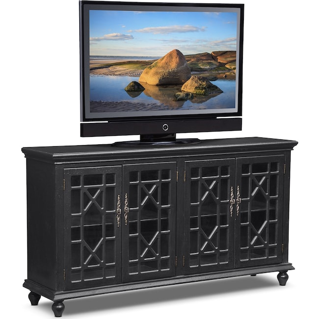 Accent and Occasional Furniture - Grenoble Media Credenza - Black