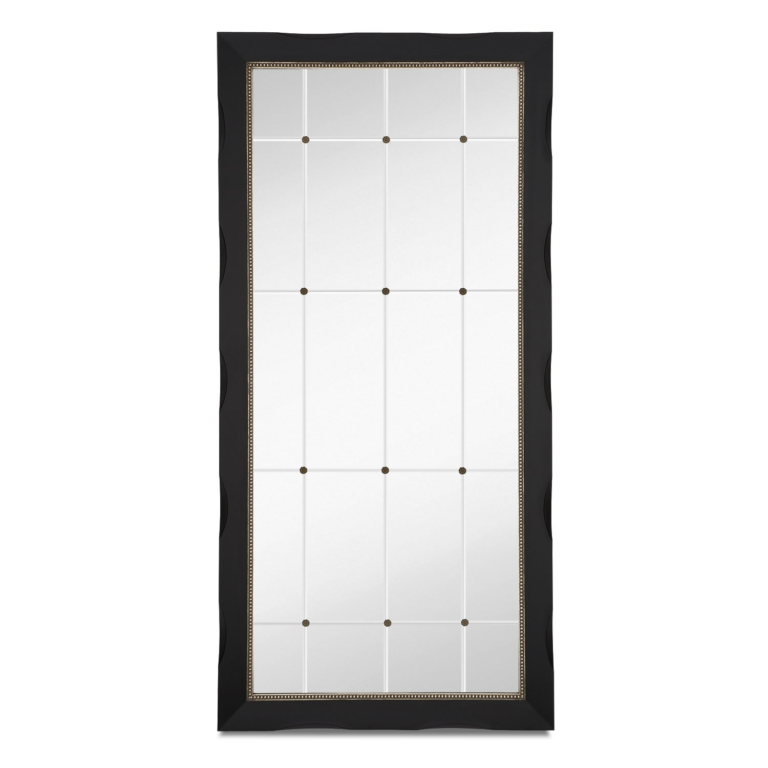 Home Accessories - Genevieve Floor Mirror - Black