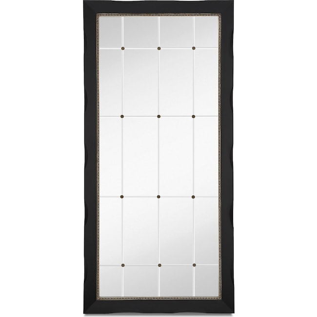 Accent and Occasional Furniture - Genevieve Floor Mirror - Black