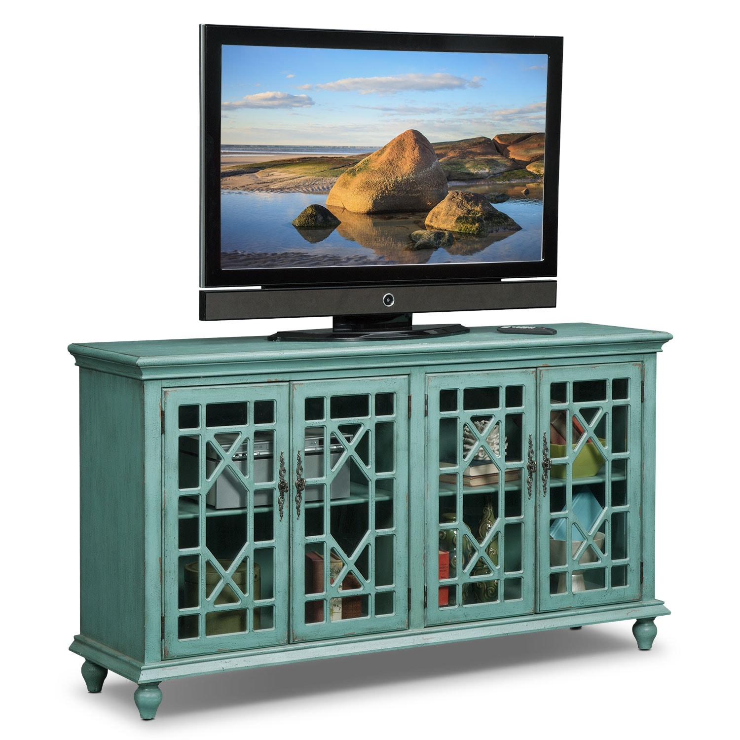 Grenoble Media Credenza - Teal