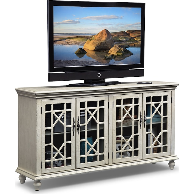 Accent and Occasional Furniture - Grenoble Media Credenza - Ivory