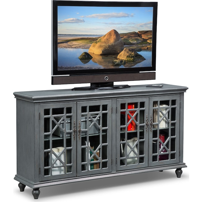 Accent and Occasional Furniture - Grenoble Media Credenza - Gray