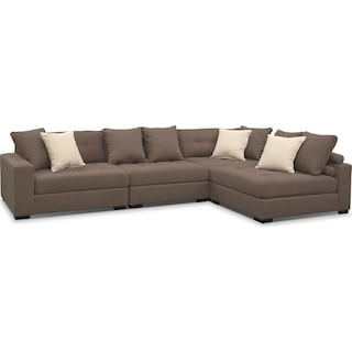 Venti 4-Piece Sectional - Mocha