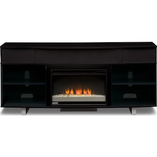 """Pacer 72"""" Contemporary Fireplace TV Stand with Sound Bar - Back"""