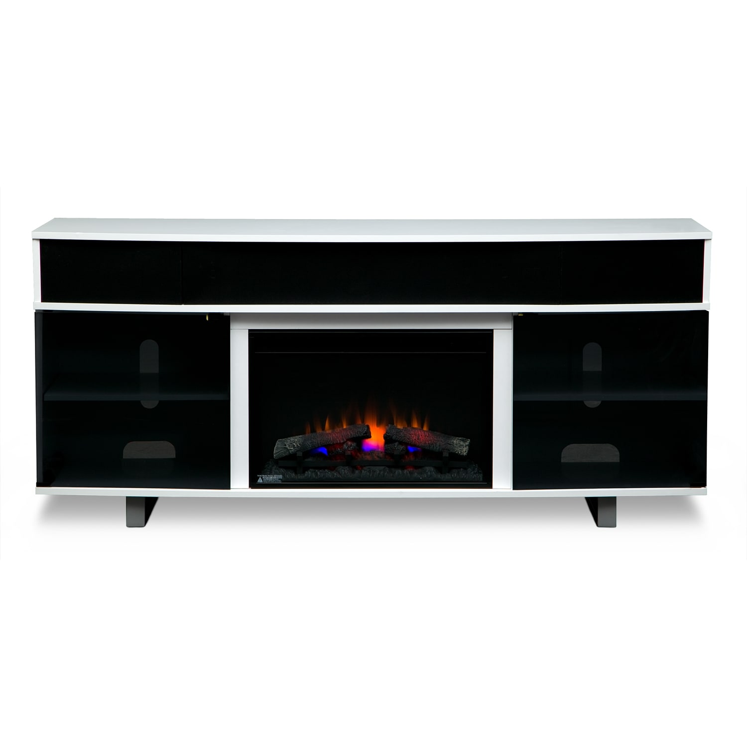 Pacer 72 Quot Traditional Fireplace Tv Stand With Sound Bar