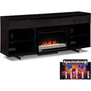 "Pacer 72"" Contemporary Fireplace TV Stand with Sound Bar - Back"