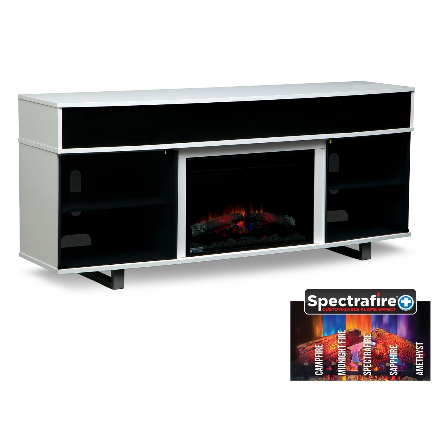 White Fireplace Tv Stand Pacer 72 Traditional With Sound Bar