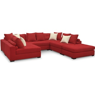 Venti 6-Piece Sectional - Red