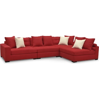Venti 4-Piece Sectional - Red