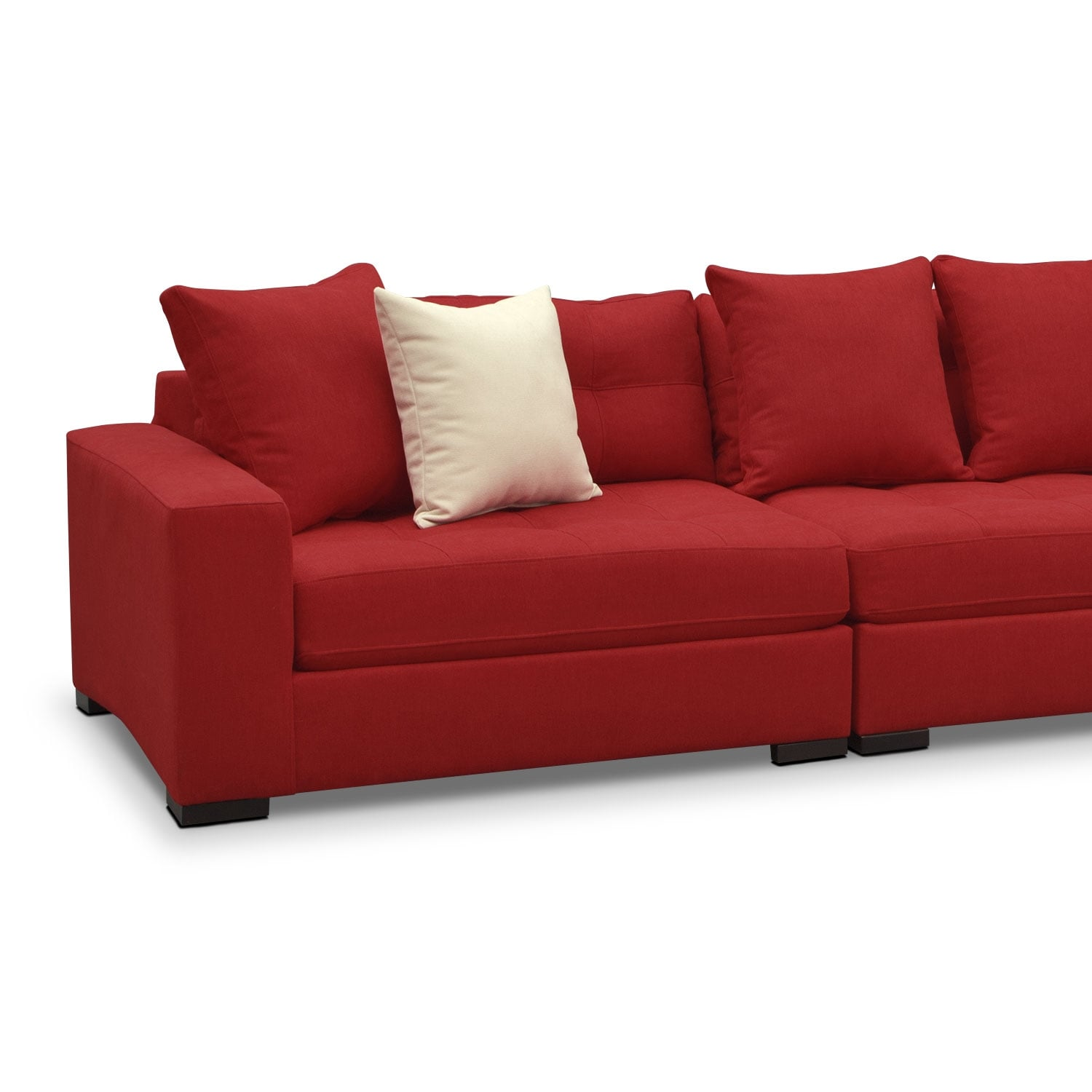 Venti 3 piece sectional red american signature furniture for American signature couch