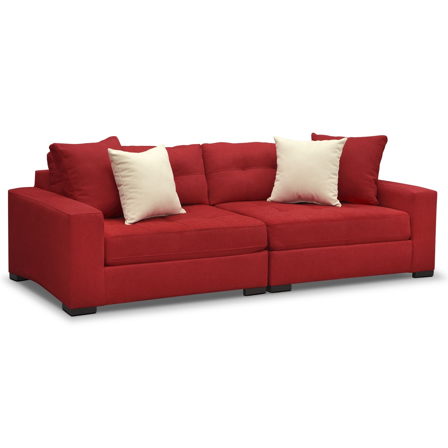 Living Room Furniture - Venti Modular Sofa - Red
