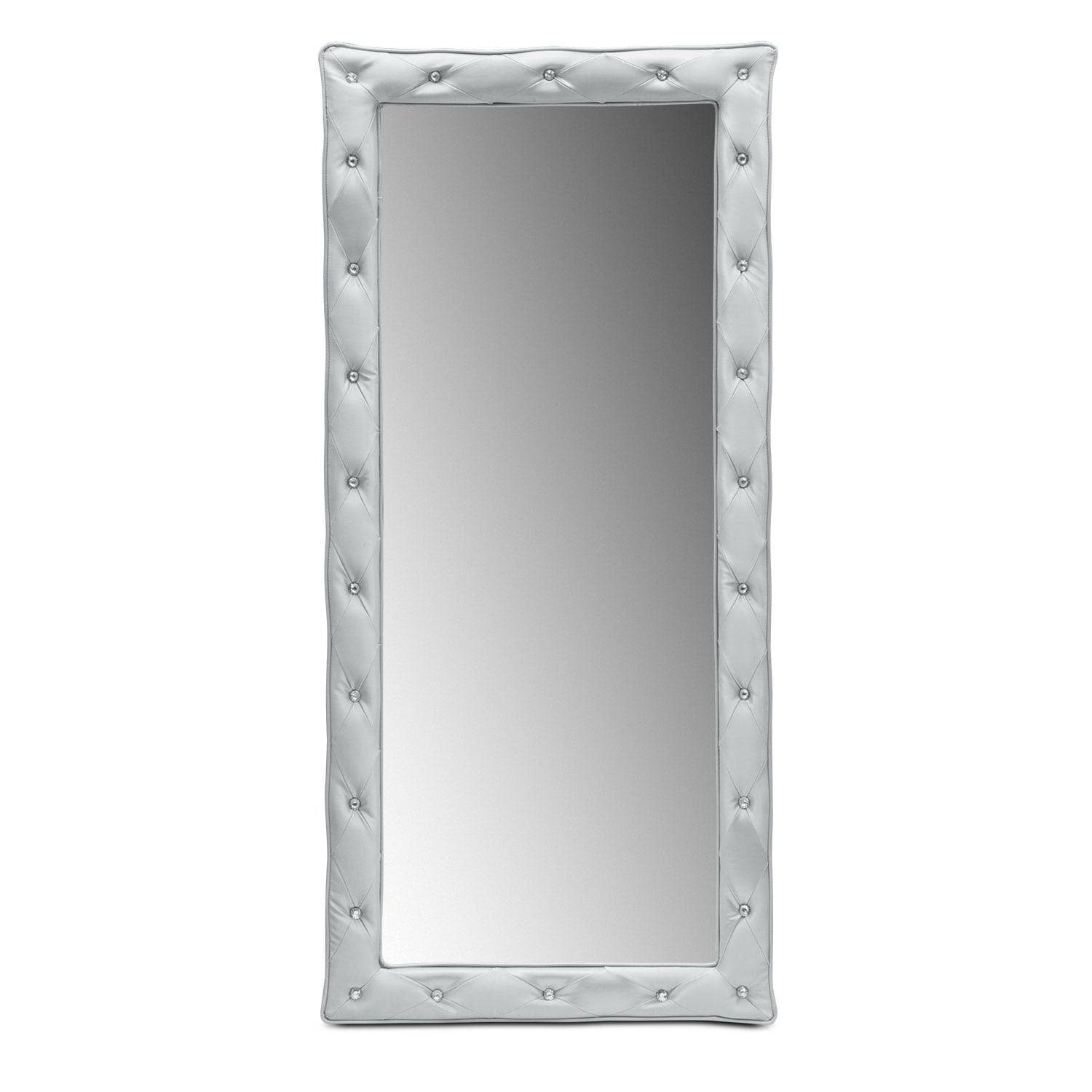 Kids Furniture - Valerie Floor Mirror - Silver