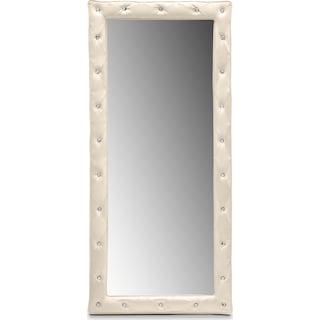 Valerie Floor Mirror - Pearl