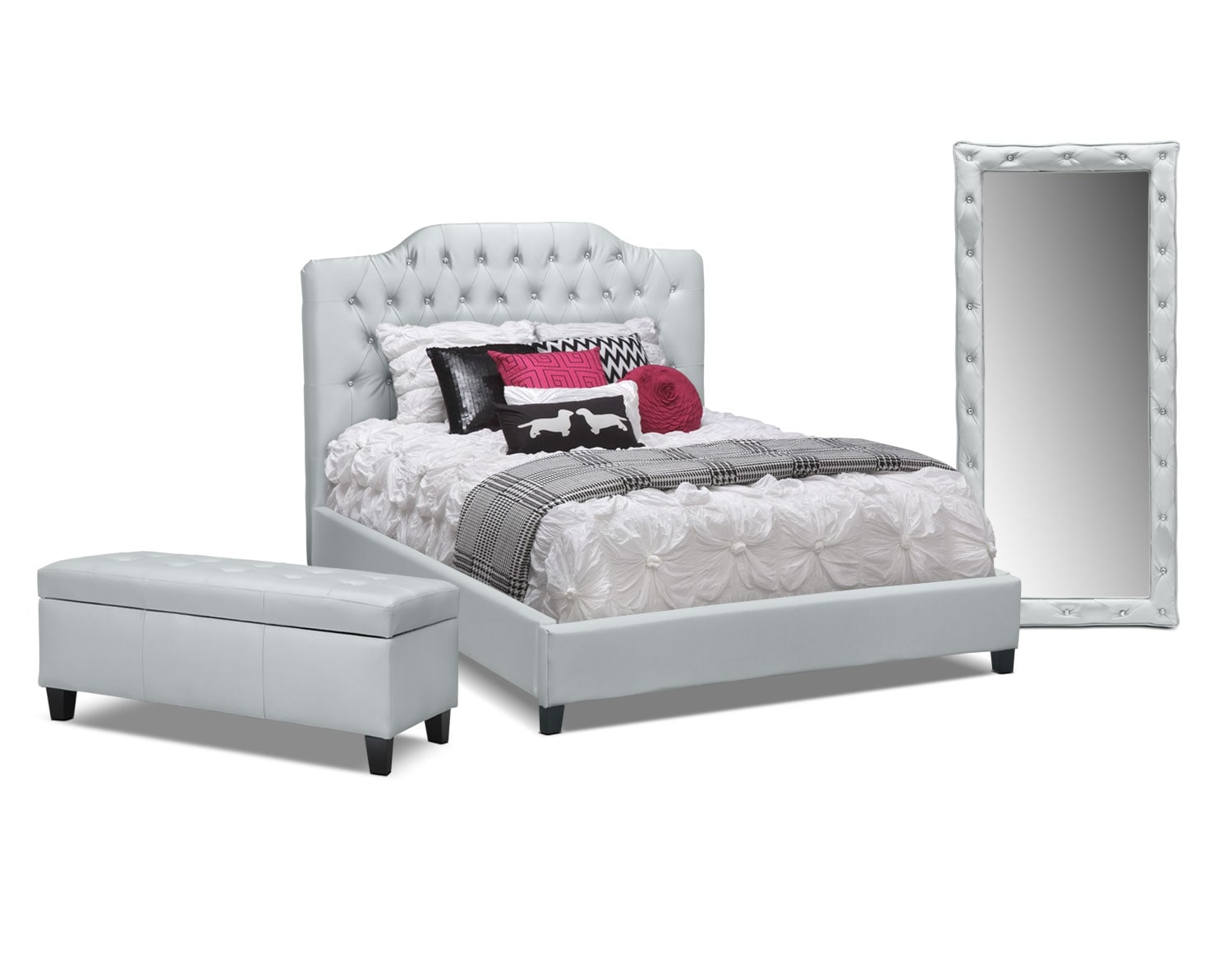 The Valerie Silver Bedroom Collection