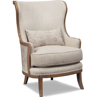 Madeline Framed Accent Chair - Beige