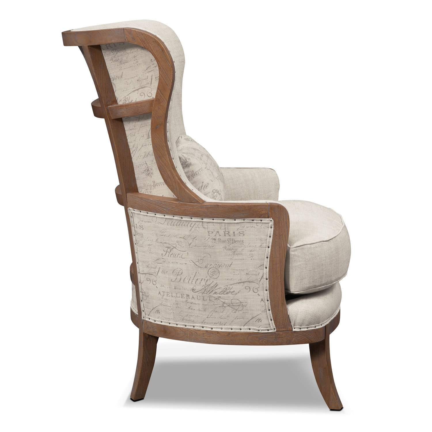 Madeline Framed Accent Chair Beige