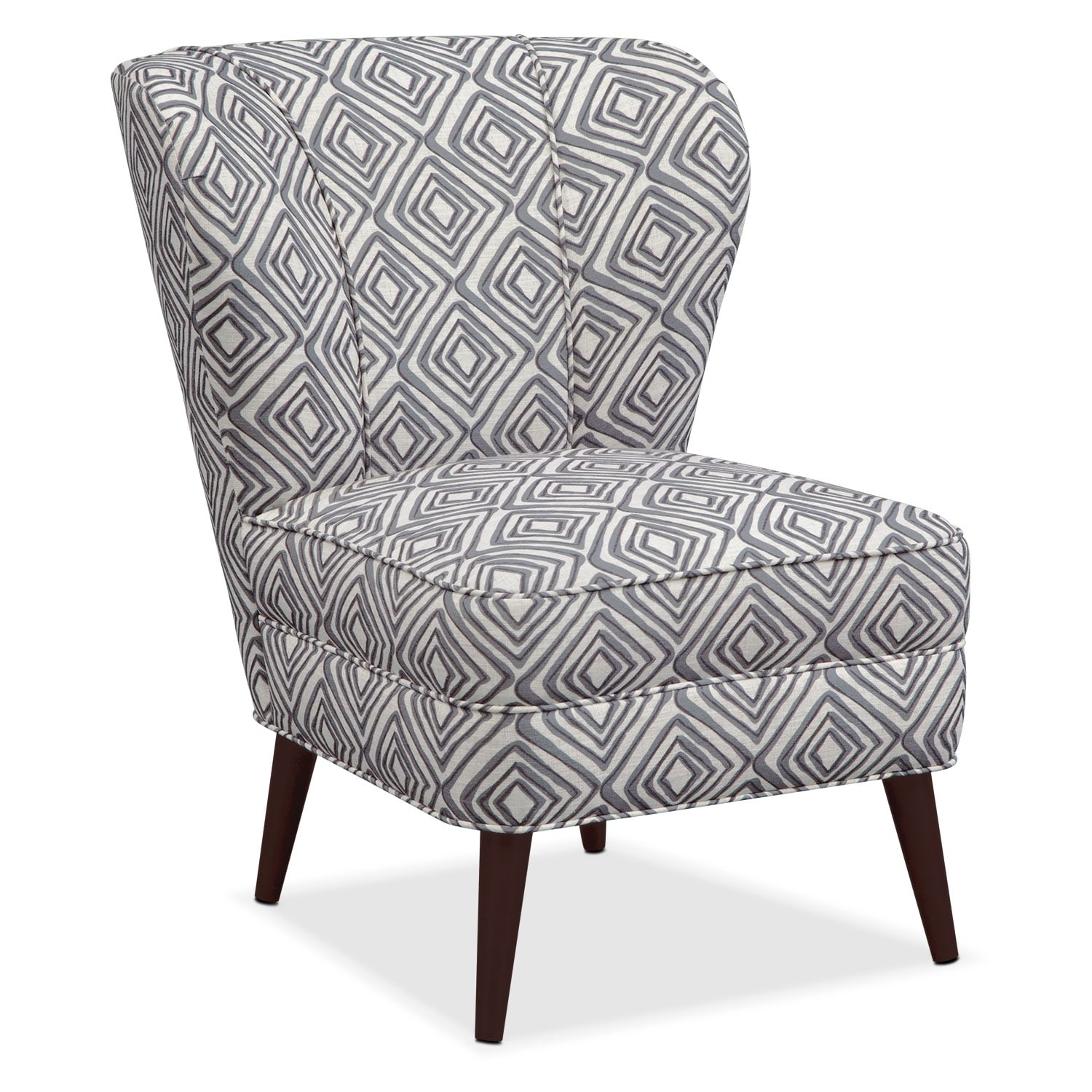 Jules Accent Chair - Gray Print