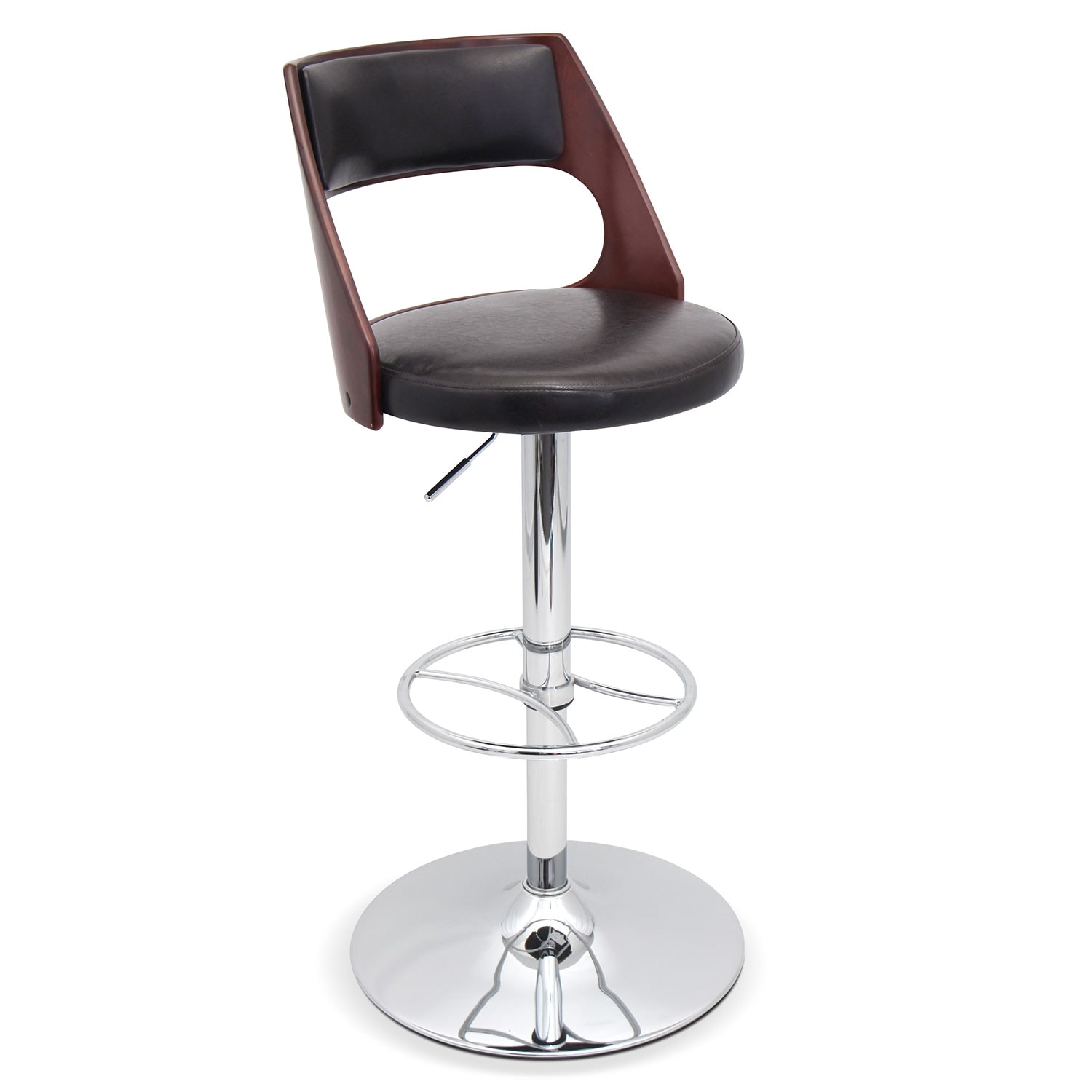 Dining Room Furniture - Palermo Adjustable Barstool - Brown