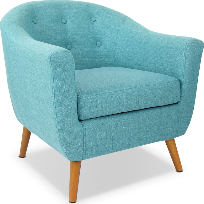 Living Room Furniture - Norman Accent Chair - Teal