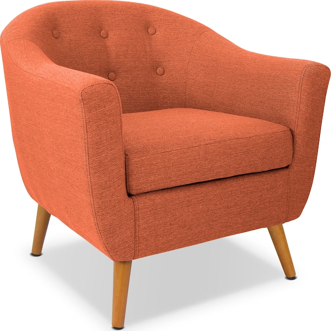 Living Room Furniture - Norman Accent Chair - Orange