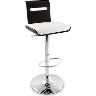 Domato Adjustable Barstool - White