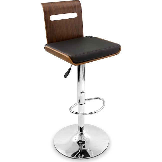 Dining Room Furniture - Domato Adjustable Barstool - Black