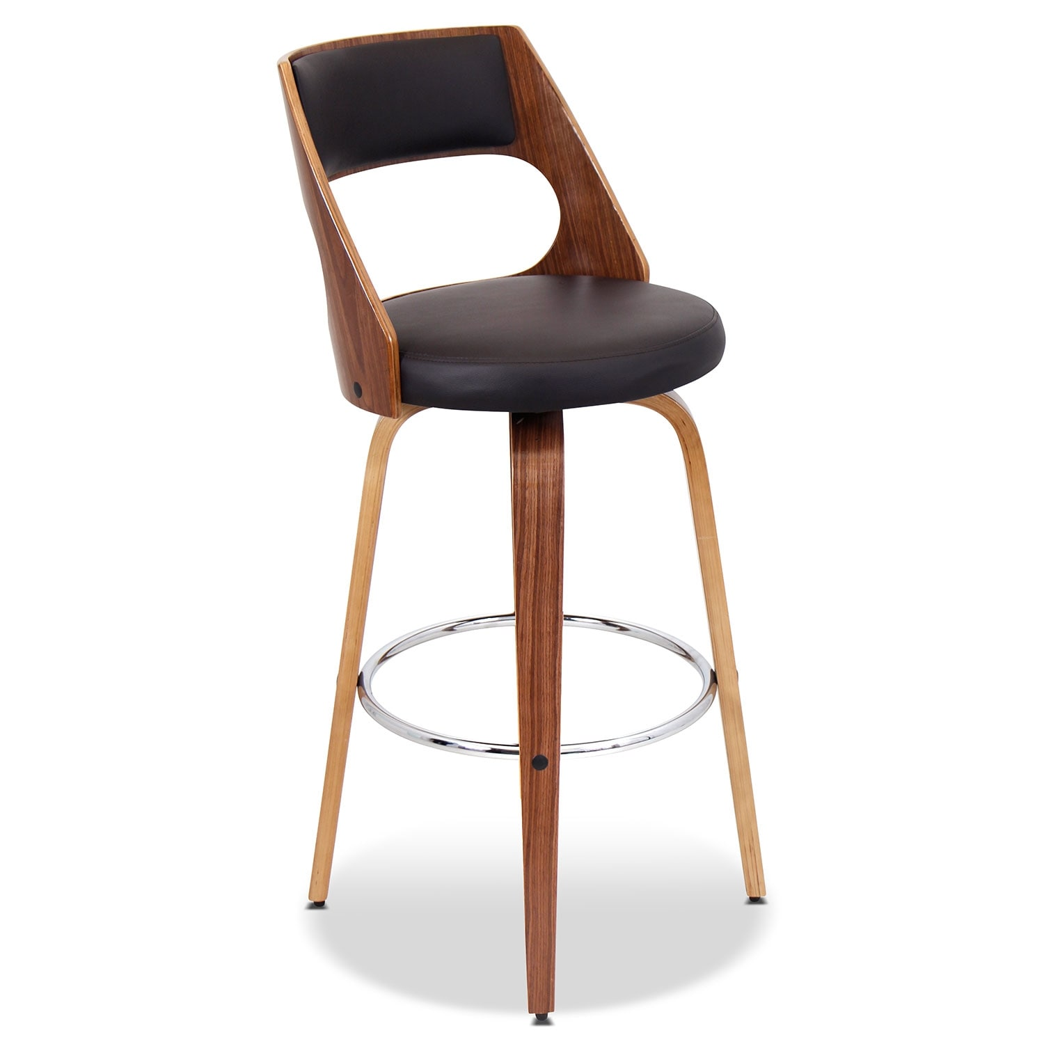 Accent and Occasional Furniture - Piazza Set of 2 Bar Stools - Walnut