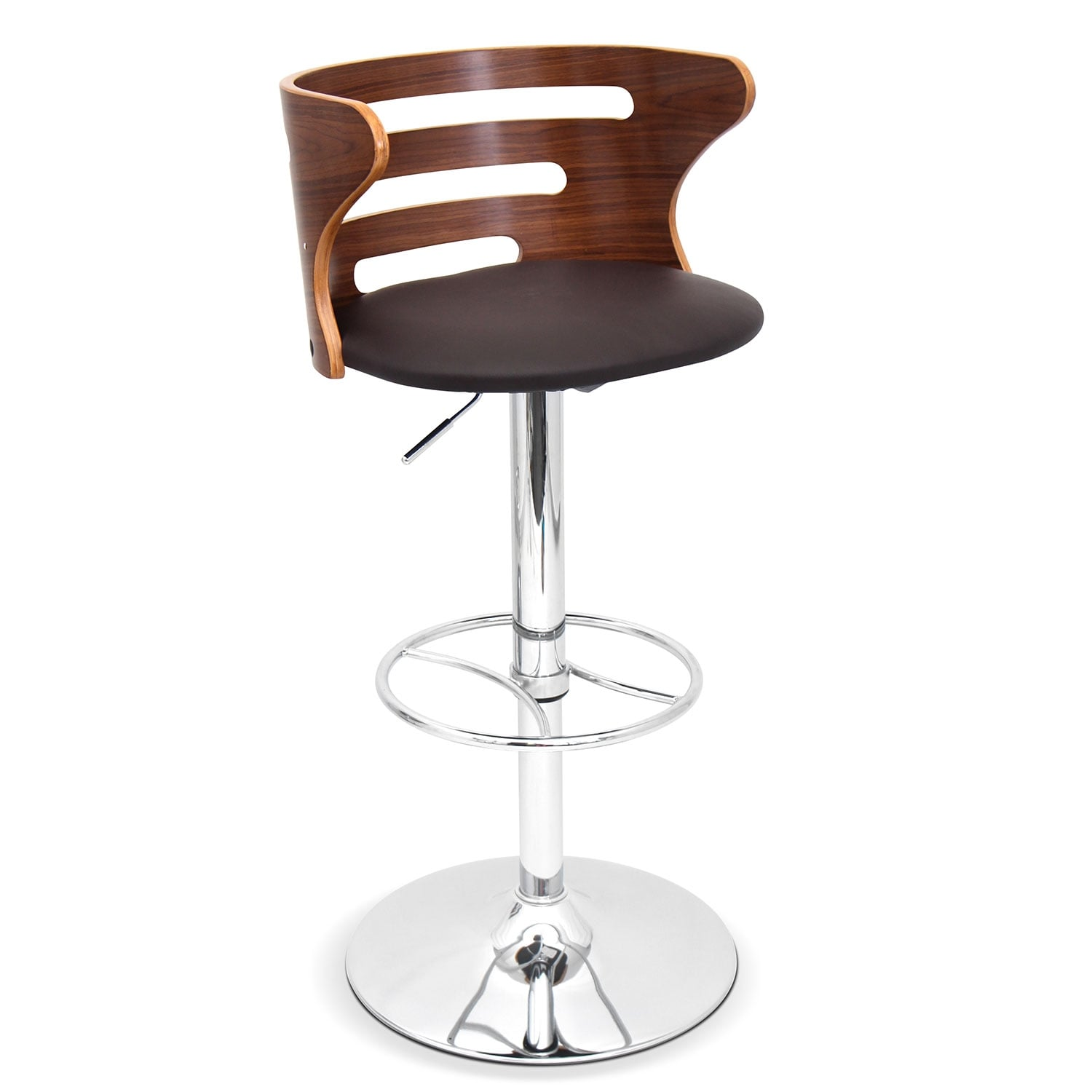 Accent and Occasional Furniture - Eliza Adjustable Barstool - Chrome