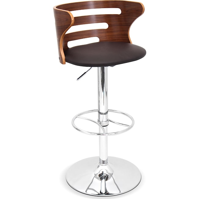 Dining Room Furniture - Eliza Adjustable Barstool - Chrome