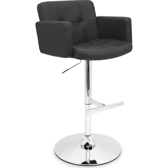 Accent and Occasional Furniture - Porter Adjustable Barstool - Black