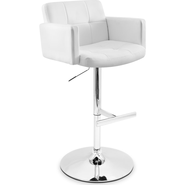 Accent and Occasional Furniture - Porter Adjustable Barstool - White