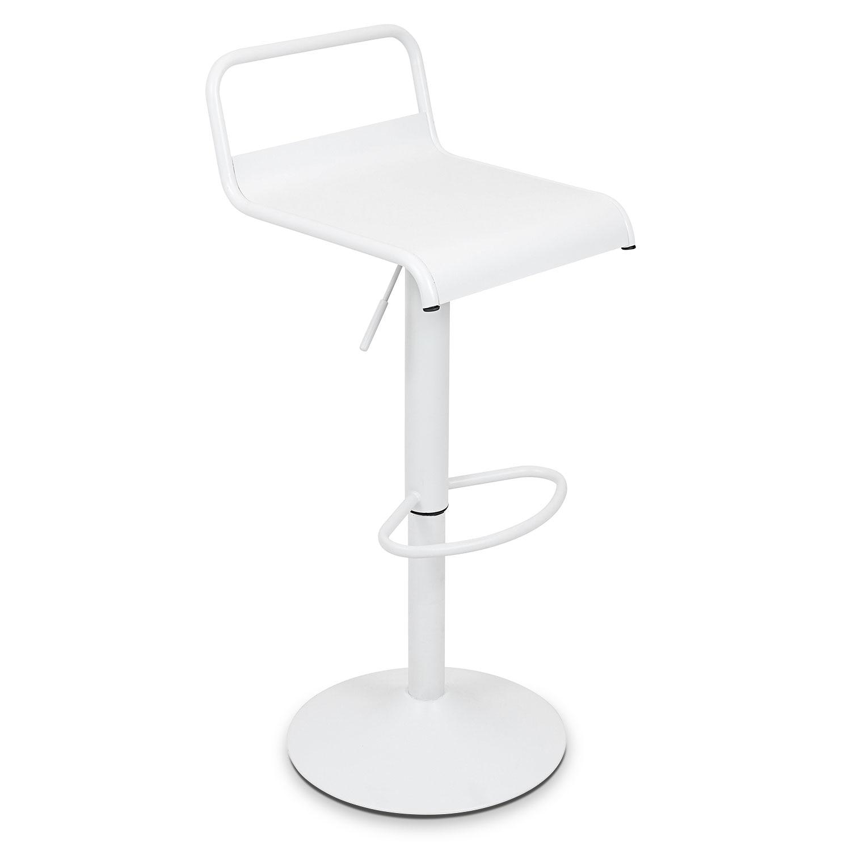 Duran Adjustable Barstool - Antique White