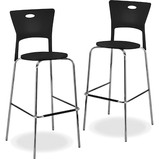 Leo 2 Pack Barstools Black