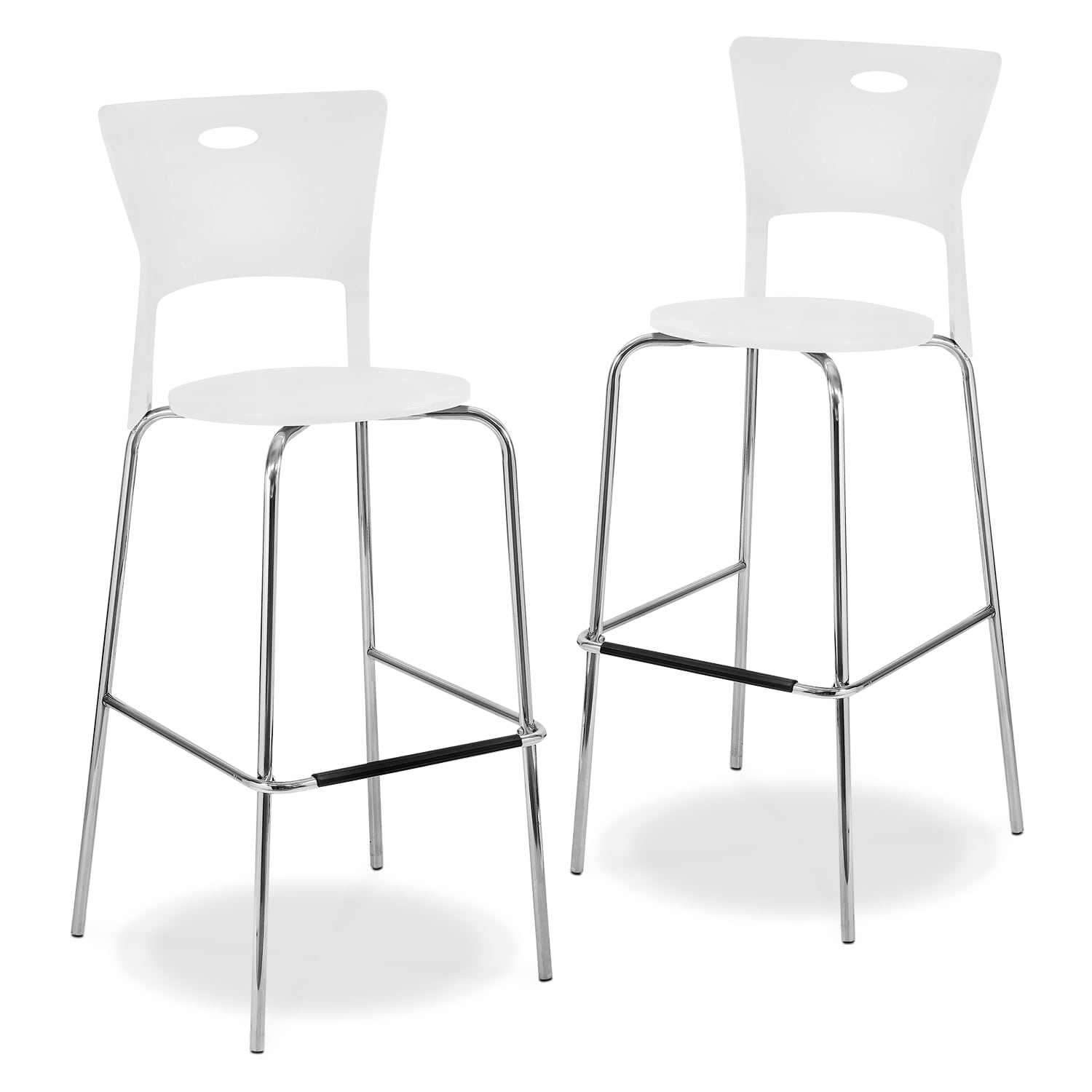 Accent and Occasional Furniture - Leo 2-Pack Barstools - White