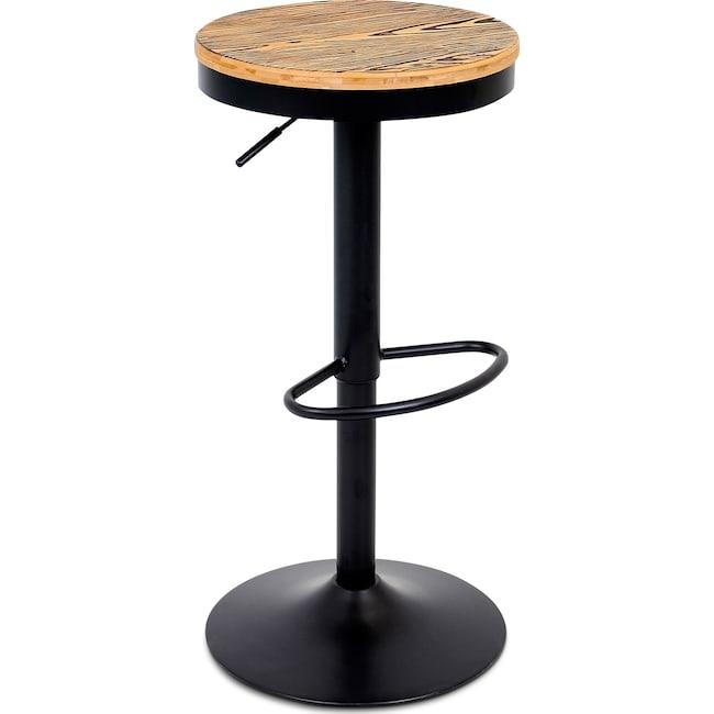 Dining Room Furniture - Rustic Adjustable Barstool - Black