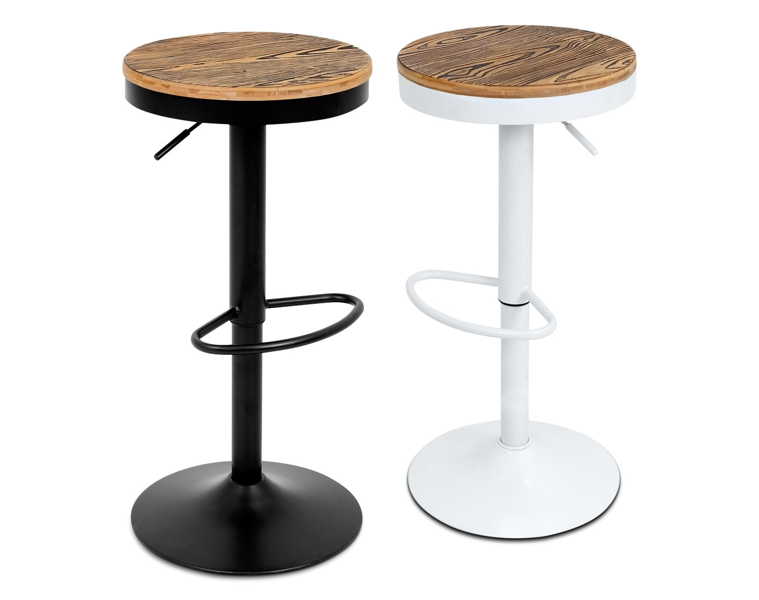 The Rustic Adjustable Barstool Collection