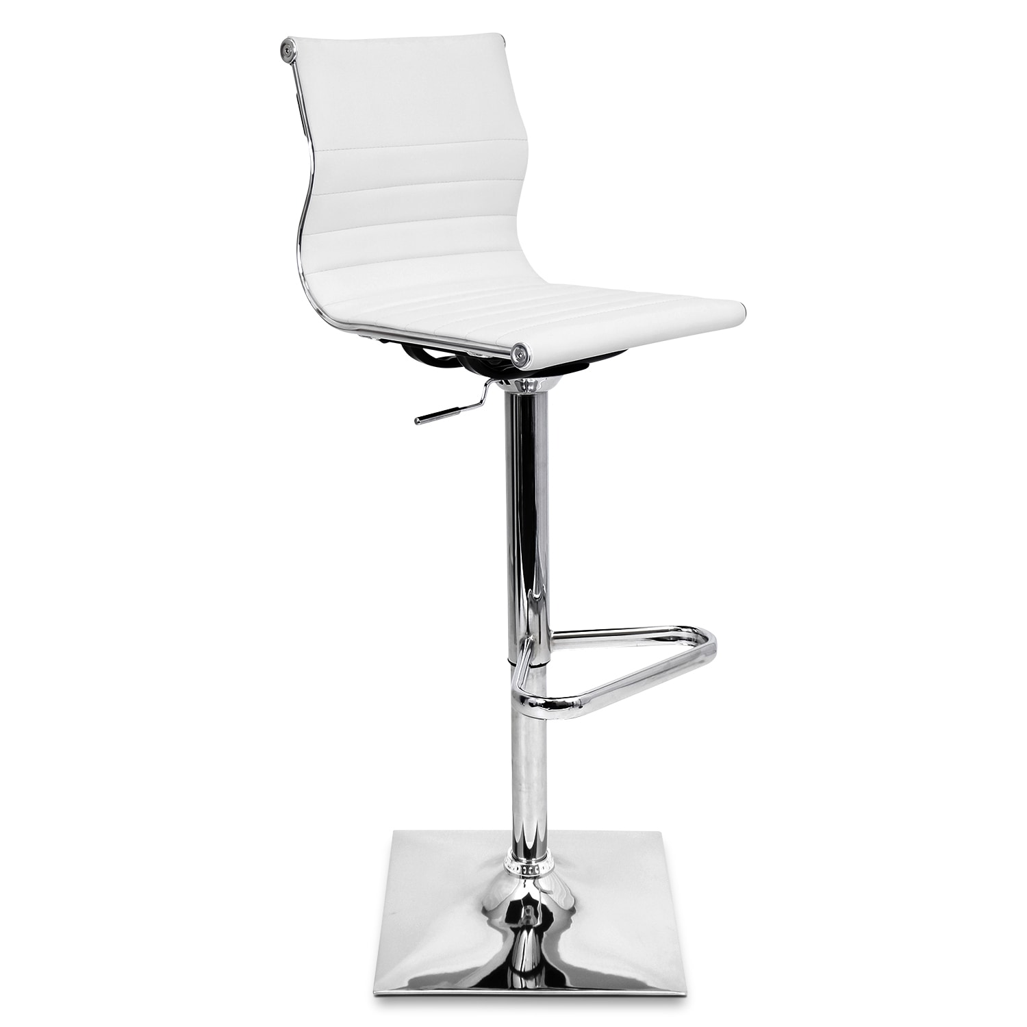 Pierce Adjustable Barstool - White